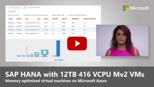 12 TB VMs, Expanded SAP partnership on Blockchain, Azure Monitor for SAP Solutions