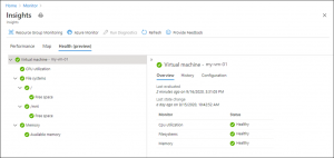 Guest health feature in Azure Monitor for virtual machines