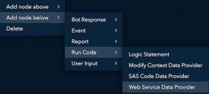 SAS Conversation Designer: interacting with APIs