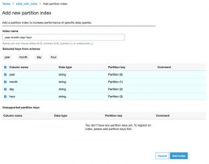 Improve query performance using AWS Glue partition indexes