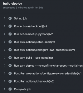 Using GitHub Actions to deploy serverless applications