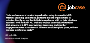 How Jobcase is using Amazon Redshift ML to recommend job search content at scale