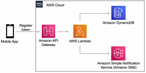 Sending mobile push notifications and managing device tokens with serverless applications