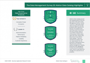"""""""So Much More than a Data Catalog"""" – Latest Edition of The Data Management Survey by BARC"""